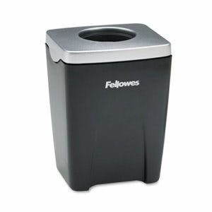 Fellowes Office Suites Plastic Paper Clip Cup, Black/Silver (FEL8032801)
