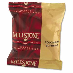 Millstone Gourmet Coffee, Colombian, 1 3/4 oz Packet, 24 Packets (FOL99900)