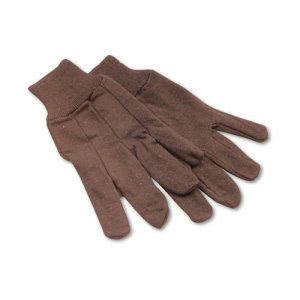 Boardwalk Jersey Knit Wrist Work Gloves, Brown, 12 pairs (BWK 9)