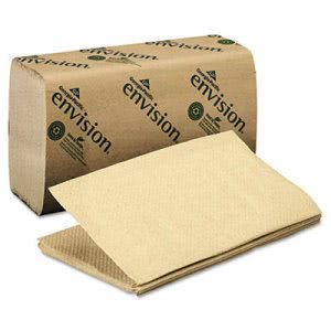Envision Single Fold Paper Towels, Brown, 4,000 Towels (GPC 235-04)