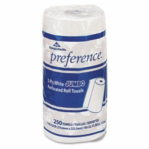 Preference Kitchen 2-Ply Paper Towel Rolls, 12 Rolls (GPC 277)