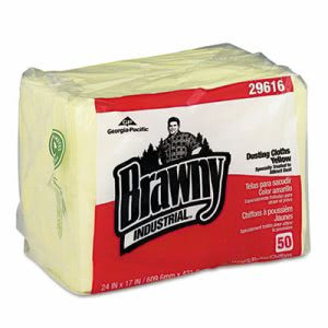 Brawny Industrial Yellow Dusting Cloths, 200 Dusting Cloths (GPC29616)