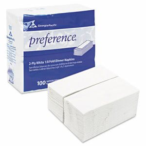 Preference 1/8 Fold 2 Ply Dinner Napkins, 15 x 16, 3000 Napkins (GPC31436CT)