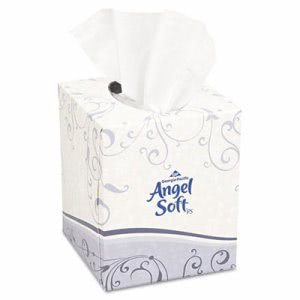 Angel Soft Ps Premium Facial Tissue, 96 Sheets/Box, 1 Cube Box (GPC46580BX)