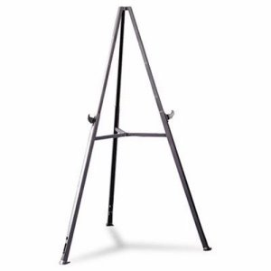 "Ghent Triumph Display Easel, Adjust 36"" to 62"" High, Gray (GHE19250)"