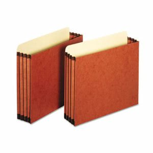 "Globe-weis 3 1/2"" Expansion File Pockets, Straight, Letter, 10/Box (PFXFC1524P)"