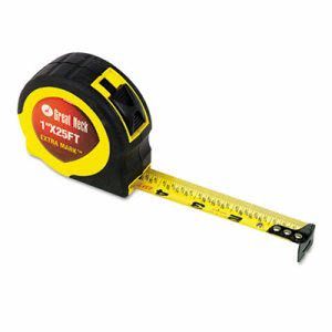 "Great Neck ExtraMark Power Tape, 1"" x 25ft, Steel, Yellow/Black (GNS95005)"