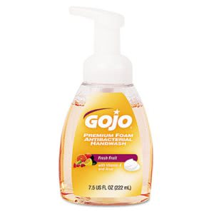 Gojo Foam Antibacterial Handwash, Fresh Fruit, 6 Pump Bottles (GOJ571006CT)