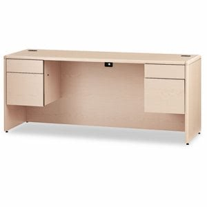 Hon 10700 Kneespace Credenza, 3/4 Height Pedestals, 72 x 24 x 29-1/2, Natural Maple (HON10743DD)