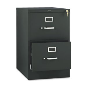 Hon 510 Series 2-Drawer, Full-Suspen, Legal, 18-1/4w x 29h, Black (HON512CPP)