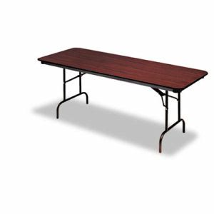 Iceberg Premium Wood Laminate Folding Table, Rectangular, 60w x 30d x 29h, Mahogany (ICE55214)