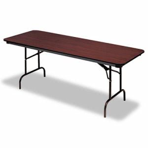 Iceberg Wood Laminate Folding Table, Rectangular, Mahogany (ICE55224)