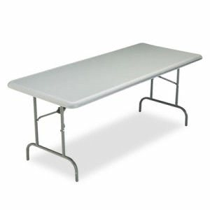 Iceberg IndestrucTable TOO 1200 Series Resin Folding Table, 72w x 30d x 29h, Charcoal (ICE65227)
