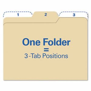 Find It Manila File Folders, 1/3 Cut, Letter, 80 Folders (IDEFT07046)