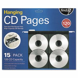 Find It Hanging CD Pages, 15/Pack (IDEFT07069)