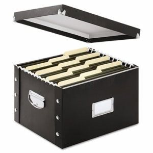 Snap N Store Storage Box, Letter, 16 1/4 x 9 3/4 x 13 1/4, Black (IDESNS01536)