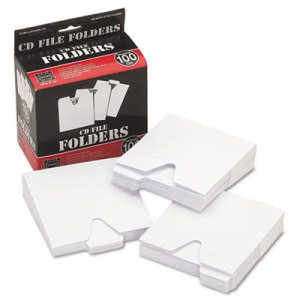 Vaultz CD File Folders, 100/Pack (IDEVZ01096)