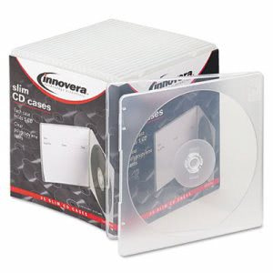 Innovera Slim CD Case, Clear, 25/Pack (IVR81900)