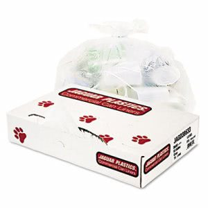 60 Gallon Clear Garbage Bags, 38x68, 1.8mil, 75 Bags (JAGD38633CL)