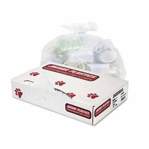 60 Gallon Clear Garbage Bags, 38x63, 2.7mil, 50 Bags (JAG D38634CL)