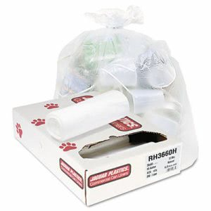 60 Gallon Clear Trash Bags, 38x60, 13mic, 200 Bags (JAGRH3660H)