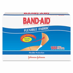 Band-aid Flexible Fabric Premium Adhesive Bandages, 3/4 x 3, 100/Box (SCJ4434)