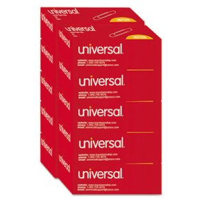 Universal Smooth Paper Clips, Wire, Jumbo, Silver, 1,000 per Pack (UNV72220)