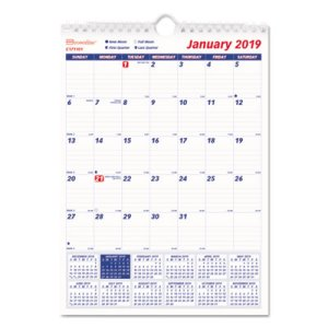 Brownline One Month Per Page Twin Wall Calendar, 8 x 11, 2020 (REDC171101)