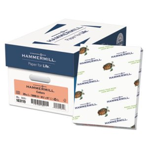 Hammermill Colored Paper, 20-lb, 8-1/2 x 11, Salmon, 500 Sheets (HAM103119)