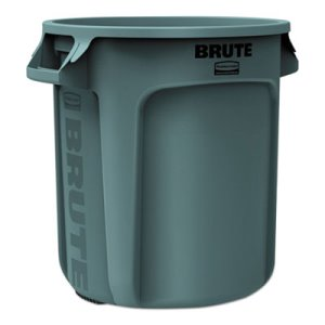 Rubbermaid 2610 Brute 10 Gallon Trash Can, Gray, 1 Each (RCP2610GRA)