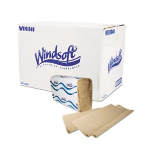Windsoft Brown Multi-Fold Paper Towels, 4,000 Towels (WIN1040)