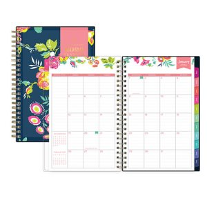 graphic relating to Day Designer for Blue Sky identify Blue Sky Working day Designer Weekly/Regular monthly Planner 5 x 8, Nvy/Floral, 2020 (BLS103620)