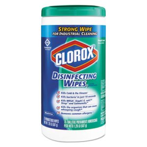 Clorox Disinfecting Wet Wipes, Fresh Scent, 75 Wipes (CLO15949EA)