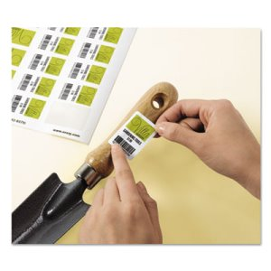 Avery Removable Labels, 1-1/4 x 1-3/4, Glossy White, 256 Labels (AVE22828)