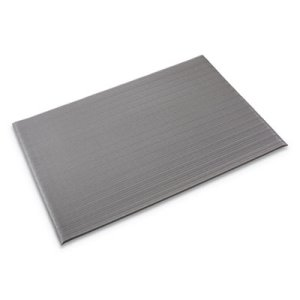 "Crown Ribbed Anti-Fatigue Vinyl Mat, 36""x120"", Gray (CWNFL3610GY)"