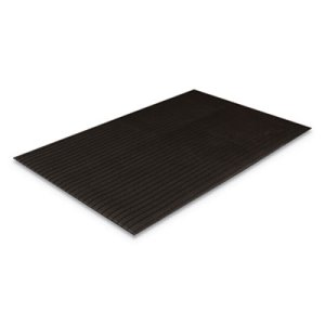 Crown Ribbed Vinyl Anti-Fatigue Mat, 36 x 60, Black, Each (CWNFL3660BK)