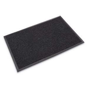 "Crown Wiper Mat w/Gripper Bottm, Polypropylene, 45""x 68"", Charcoal (CWNSSR046CH)"