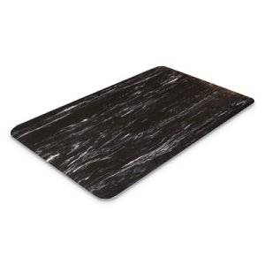 "Crown Cushion-Step Mat, Rubber, 36""x60"", Marbleized Black (CWNCU3660BK)"