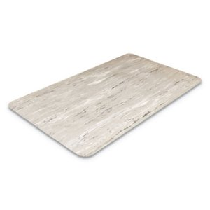 "Crown Cushion-Step Rubber Mat, 36""x72"", Marbleized Gray (CWNCU3672GY)"