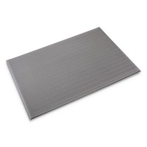 Crown Ribbed Vinyl Anti-Fatigue Mat, 24 x 36, Gray (CWNFL2436GY)