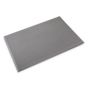 "Crown Ribbed Anti-Fatigue Mat, Vinyl, 36""x60"", Gray (CWNFL3660GY)"