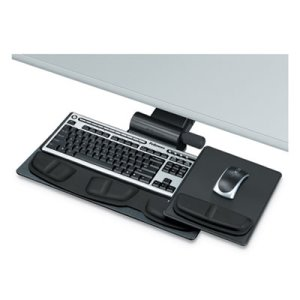 Fellowes Professional Premier Adjustable Keyboard Tray, Black (FEL8036001)