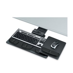 Fellowes Executive Adjustable Keyboard Tray, 19-1/16x10-5/8, Black (FEL8036101)