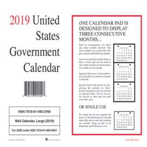"Unicor 2019 Monthly Wall Calendar, 9"" x 11"", White, 10 Calendars (UCR5453768)"