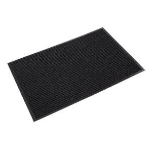 Crown Rib Wipe & Scrape Mat, Polypropylene, 36 x 60, Charcoal (CWNNR0035CH)