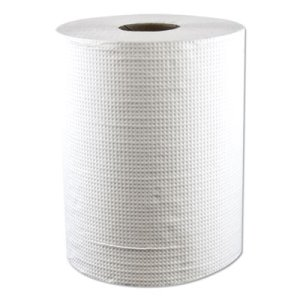 Morcon Hardwound Roll Towels, White, 1-Ply, 600 ft, 12 Rolls (MORW12600)