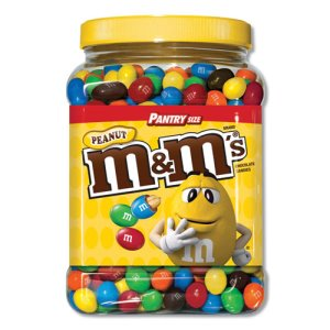 M & M's Milk Chocolate Coated Candy with Peanut Center, 62-oz. Tub (MNM1207596)