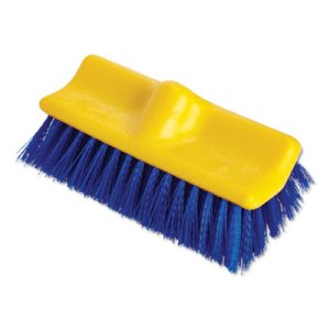 "Rubbermaid 6337 Bi-Level Floor Scrub Brush, 10"" Plastic Block (RCP633700BE)"