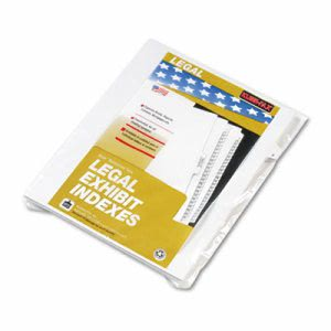 "Kleer-fax 80000 Series Legal Exhibit Index Dividers, Side Tab, ""F"", White, 25/Pack (KLF80006)"