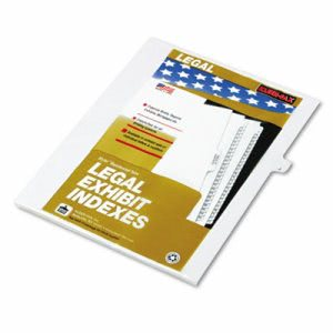 "Kleer-fax 80000 Series Legal Exhibit Index Dividers, Side Tab, ""J"", White, 25/Pack (KLF80010)"